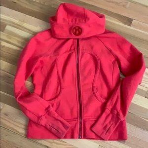 Red Lululemon scuba hoodie size 8